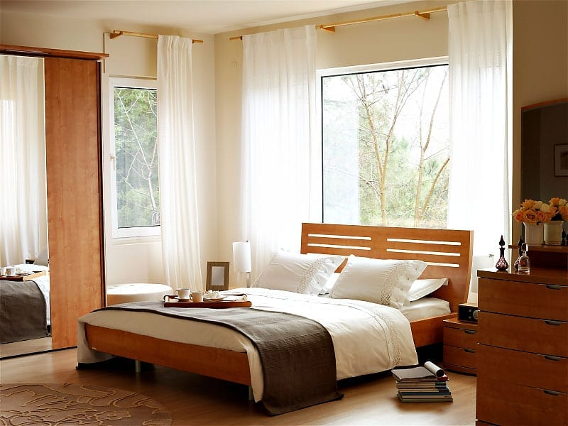 Wooden Bed Design Modern Simple