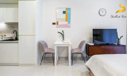 Modern studio for lease at high-end building Saigon Royal free Gym, swimming pool and close to D1