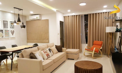 Apartment 2 bedrooms for lease at Icon 56, nice decoration and large living room