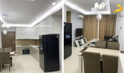 Nice apartment for rent at Masteri Millennium in District 4, 2 bedrooms fully furnished on high floor