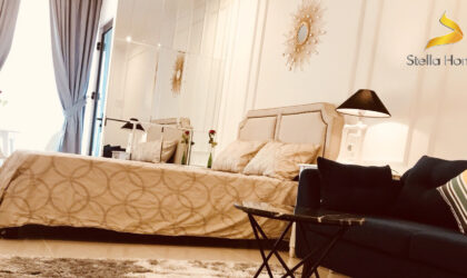 Luxury decoration studio apartment for rent at The Tresor in District 4 fully furnished
