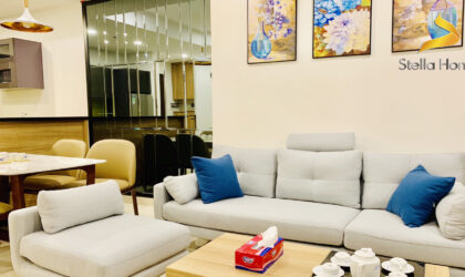 Apartment 2 bedrooms fully furnished for rent at The Tresor building, district 4, free Gym and Pool Close to Bitexco