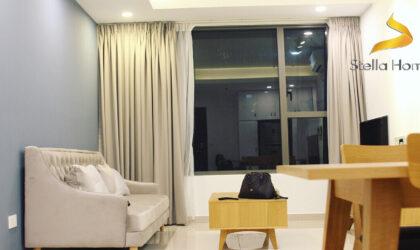 Căn hộ sang trọng 2 phòng ngủ và view sông cho thuê tại tòa nhà The Tresor, tầng cao