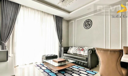 Super luxury apartment 2 bedrooms for rent in the Hi-end building The Tresor, D4, close to Bitexco Tower