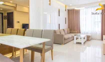 Luxury and modern decorate apartment 2 bedrooms for rent at The Tresor, high floor, river view
